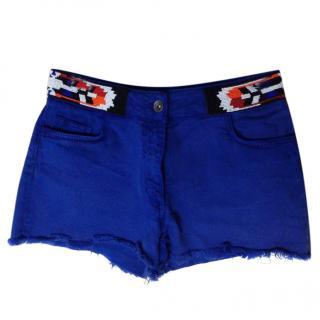 Sandro Beaded Blue Shorts