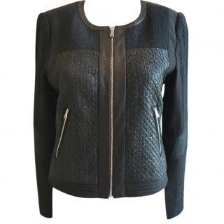 Rebecca Taylor black zip front jacket