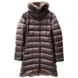 Herno Quilted Fur Collared Coat