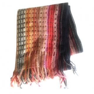Missoni Striped Knitted Wool Scarf