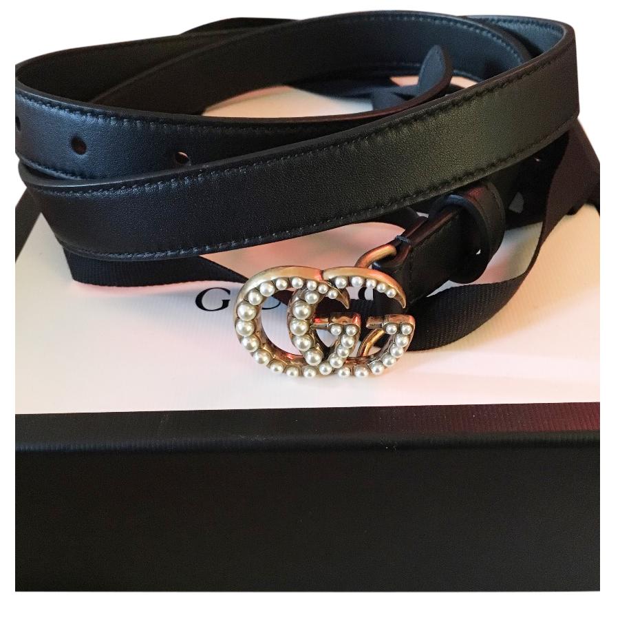 2dfd78c879e Gucci Pearl Gg Skinny Belt