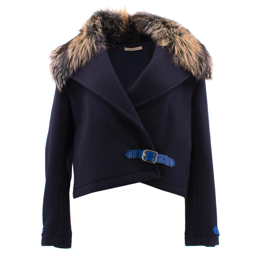 Christopher Kane Fox Fur Collar Jacket