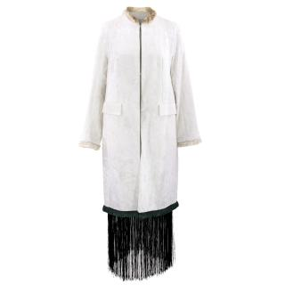Toga Pulla Ivory Cotton Moquette Coat