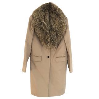 Joseph Coat with fur collar UK6/8
