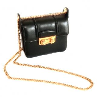 Lanvin black leather cross body bag