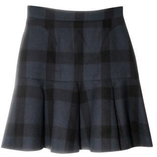 No. 21 bell shaped tartan mini skirt