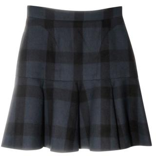 No. 21 bell shaped tartan mini skirt