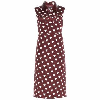 Burberry Prorsum Heart Print Dress
