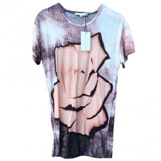 Jonathan Saunders Rose Printed Jersey T-shirt