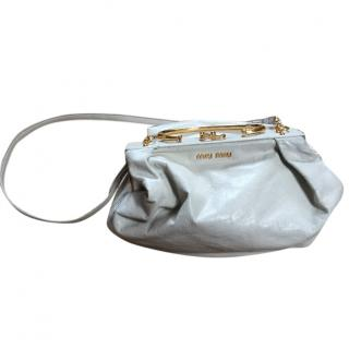 Miu Miu off white patent shoulder bag