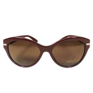 Versace Crystal Bordeaux Sunglasses