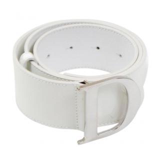 Dior D' White Patent Belt