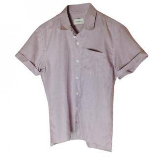Oliver Spencer Short Sleeved pale pink shirt