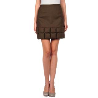 Giles wool and down padded skirt