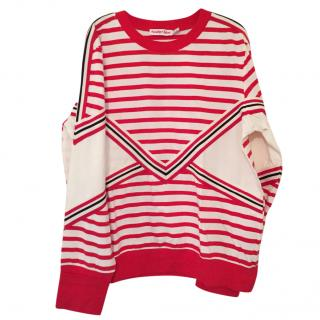See BY Chloe Striped stretch-cotton jersey sweatshirt