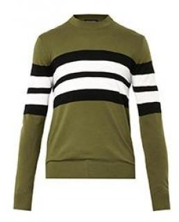 Jonathan Saunders Oban Merino Wool College Stripe Jumper
