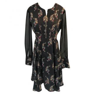 Sandro China Print Dress