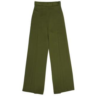 Balmain High Waisted Slit Trousers