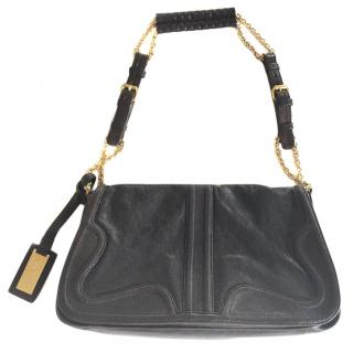 ELIE SAAB leather bag with gold tone chain handle