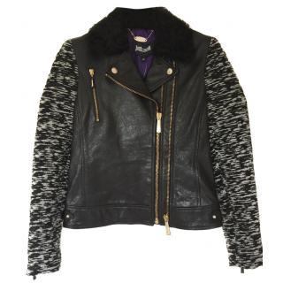 Just Cavalli Biker Leather Jacket