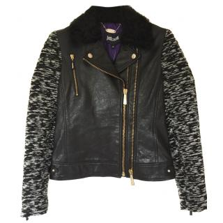 Just Cavalli Biker Leather Jacket