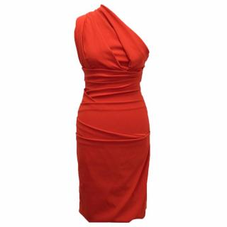 Preen by Thornton Bregazzi Red Plaza One Shoulder Dress