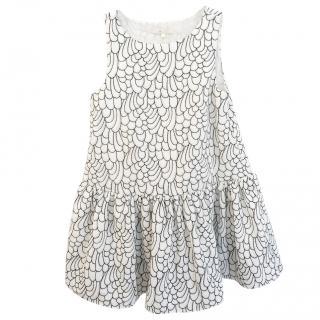 Make printed dress with petticoat