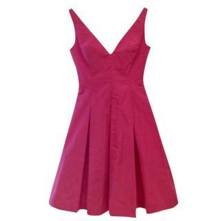 Ralph Lauren Pink Silk Taffeta Dress