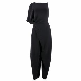 Vionnet Black Cady Jumpsuit