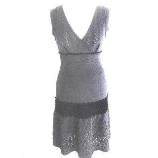 Philosophy di Alberta Ferretti Grey Knit Dress