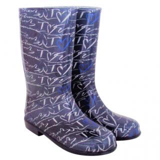 Armani rain boots