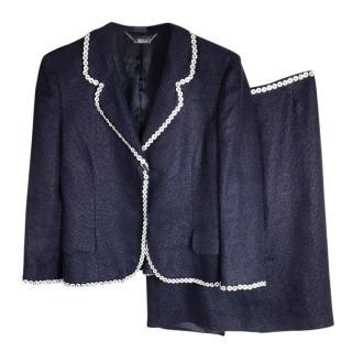Alexander McQueen blue skirt Suit