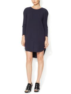 3.1 Phillip Lim BLUE Textured High-Low Hem Shift Dress