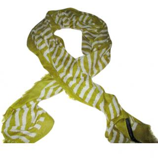Marc By Marc Jacobs lime scarf