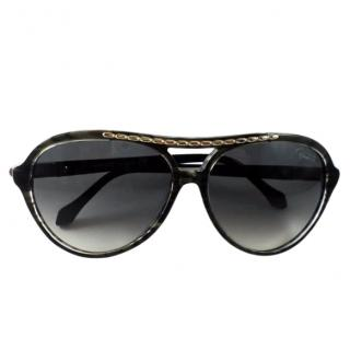 Roberto Cavalli Black Sunglasses