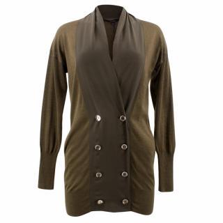 Gucci Olive Green Cashmere Cardigan