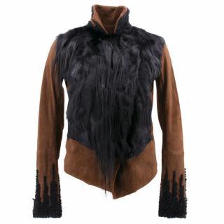 Donna Karan Lamb and Fur Jacket