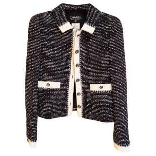 Chanel tweed navy/white jacket
