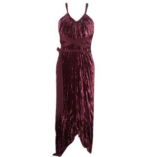 BCBG Max Azria Burgundy cocktail dress