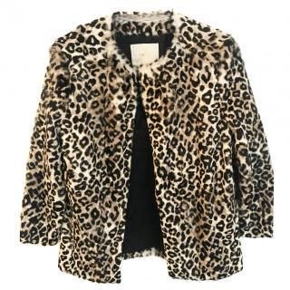 Maje leopard print goatskin jacket