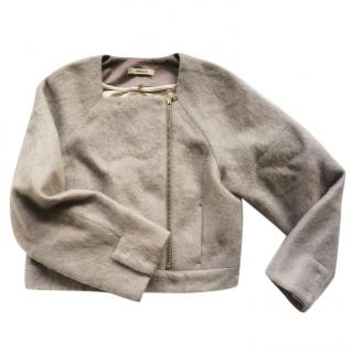 J Brand light grey wool/mohair jacket