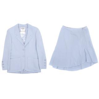 Chanel Blue Skirt Suit