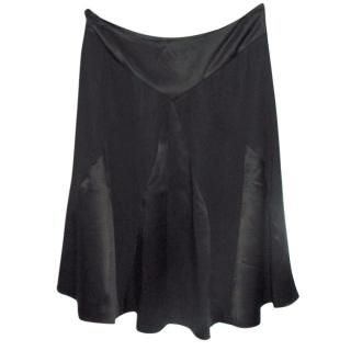 Temperley black silk skirt