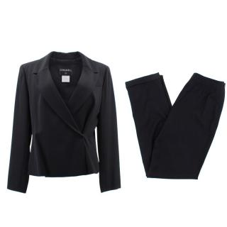 Chanel Black Blazer Jacket and Trousers Suit