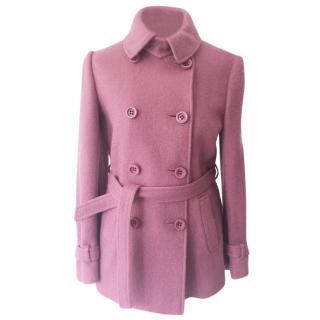 Moschino Cheap & Chic Pink Wool Coat