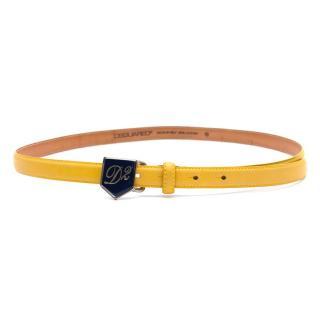 DSquared Yellow Thin Logo Belt