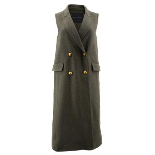 Ermanno Scervino Army Green with Gold Buttons Vest