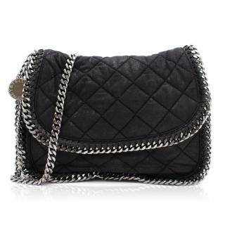 Stella Mccartney Black Quilted Flap Bag