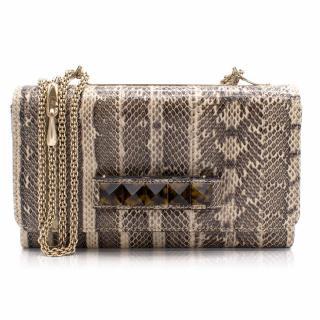 Valentino Va Va Voom Clutch Bag In Python