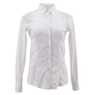 Ermanno Scervino White Lace Panelled Shirt